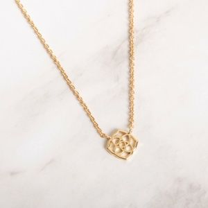 Kendra Scott Decklyn Gold Logo Necklace